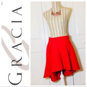 Gracia asymmetric mini skirt
